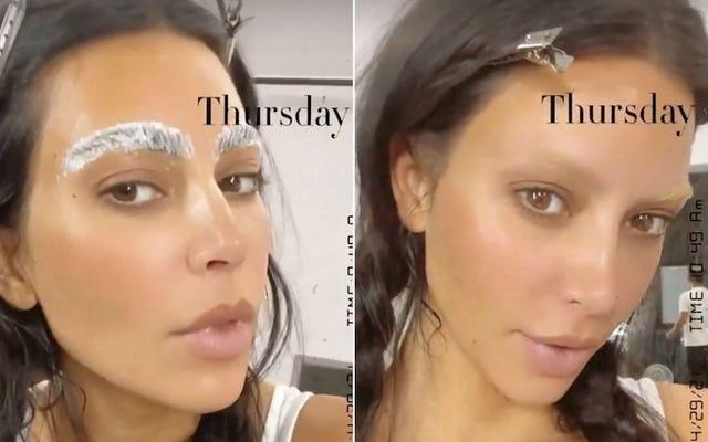 J'ai essayé les sourcils décolorés de Kim Kardashian et j'ai réalisé que mes sourcils naturels allaient bien