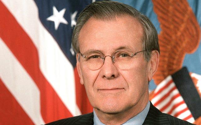 ドナルド・ラムズフェルドが100万人少ないイラク人によって生き残った