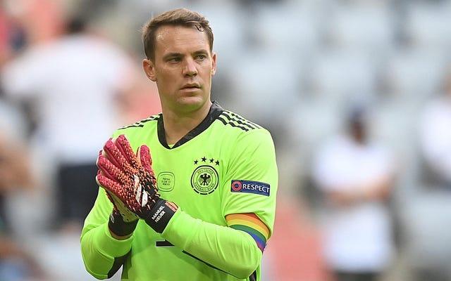 UEFA menyelidiki ban lengan pelangi Neuer sementara preman fasis berbaris pada pertandingan Hungaria-Prancis [Diperbarui]