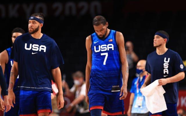 미국팀 남자농구팀에 대한 기대치를 낮출 때가 된 것 같다.