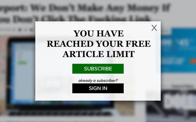Rottura: hai raggiunto il limite di articoli gratuiti