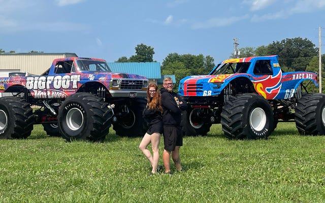 Darron et Rebecca Schnell courent dans la série Hot Wheels Monster Trucks Live