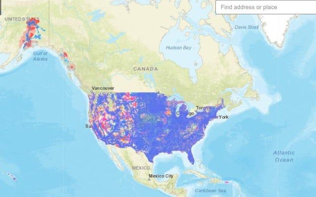 FCC finalmente lança um mapa atualizado de banda larga móvel dos EUA