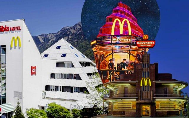 このデザイン愛好家は、Twitterを使用して世界で最もユニークなマクドナルドの場所を祝っています