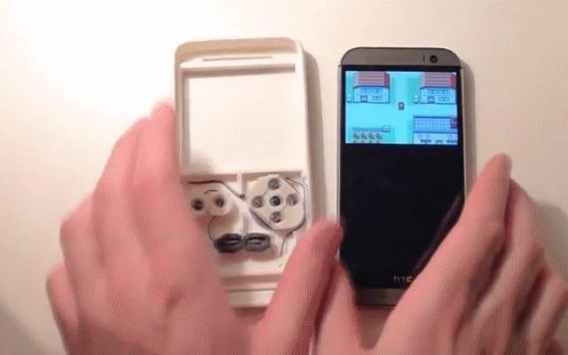 L'étui imprimé en 3D rend votre smartphone plus comme un Game Boy