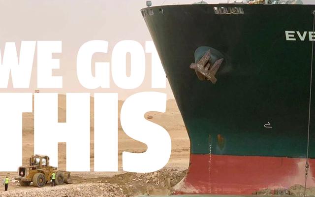 スエズ運河船を解放するためのJalopnikの絶対確実な計画