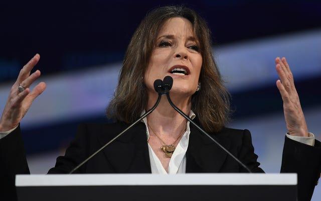 Đóng gói các viên pha lê: Marianne Williamson đình chỉ chiến dịch tranh cử tổng thống của cô ấy