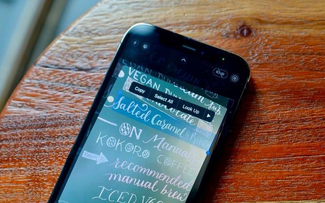 iOS15の最高の新機能である「ライブテキスト」の使用方法