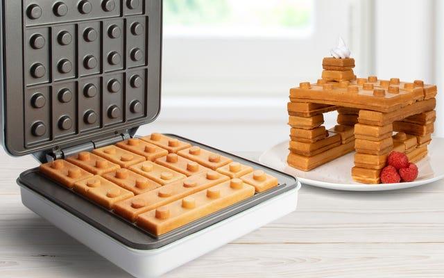 Este fabricante de waffles é como comer lego no café da manhã