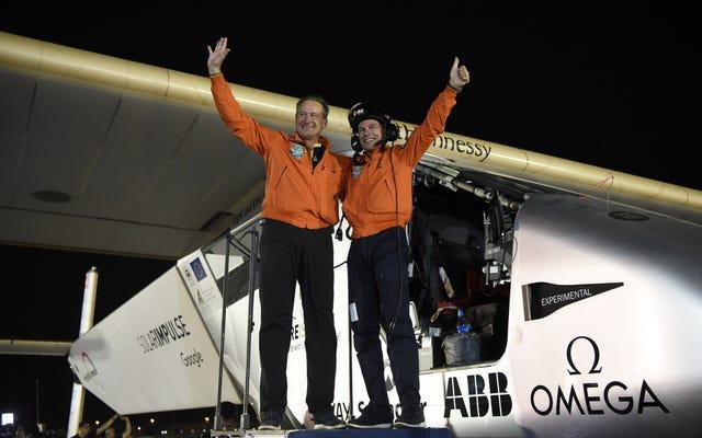 ソーラーインパルスが燃料なしで世界一周する最初の飛行機になる