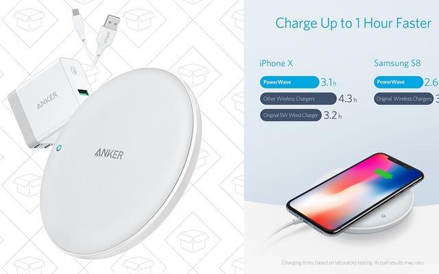 Économisez 18 $ sur le dernier chargeur Qi d'Anker, qui prend en charge une charge plus rapide de l'iPhone