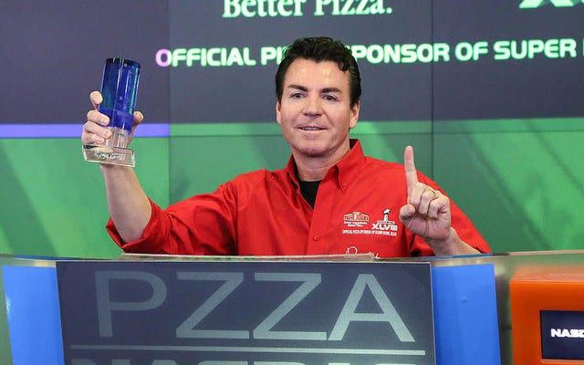 これを読んでください:男はパパジョンをいじめるために30日間で40個のピザを食べます