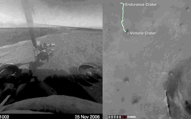 Les 11 ans d'Opportunity sur Mars capturés dans un timelapse spectral