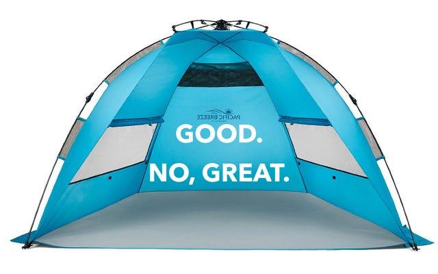 La meilleure façon de plage est avec une tente, enculés