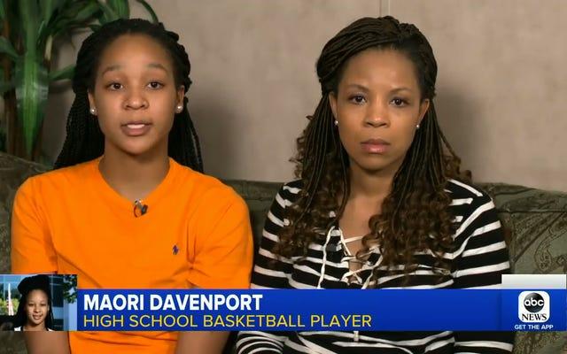Maori Davenport, qui a été foutu par l'erreur de USA Basketball, peut jouer au ballon au lycée pour le moment
