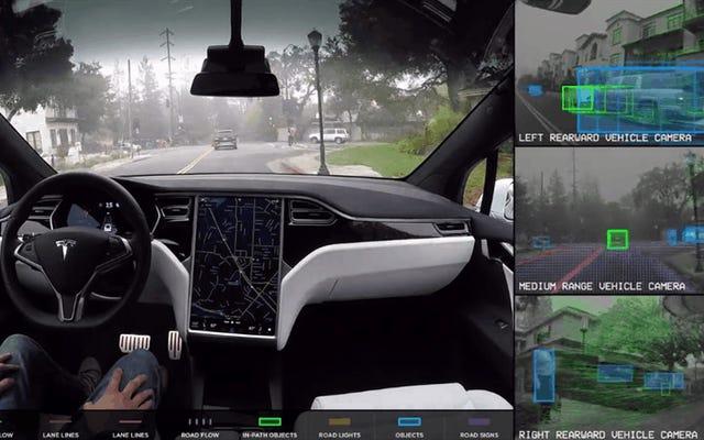Voici comment les voitures autonomes de Tesla voient le monde