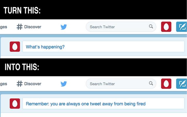 यह क्रोम एक्सटेंशन आपको ट्विटर पर इस तरह के डिक होने से रोकने की याद दिलाता है
