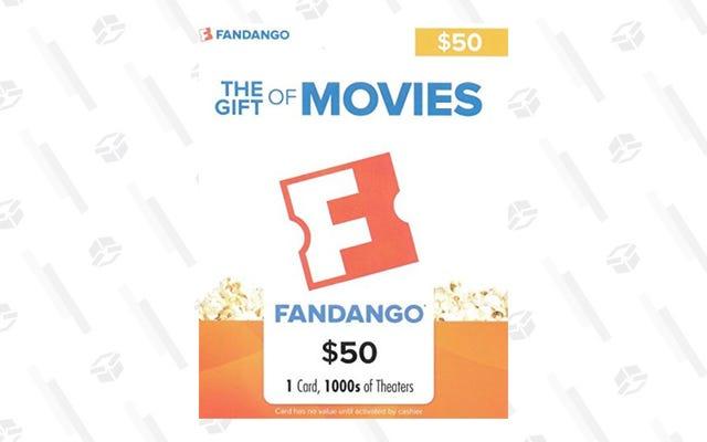 ส่งเพื่อนของคุณไปดูหนังด้วยส่วนลด $ 10 สำหรับบัตรของขวัญ Fandango