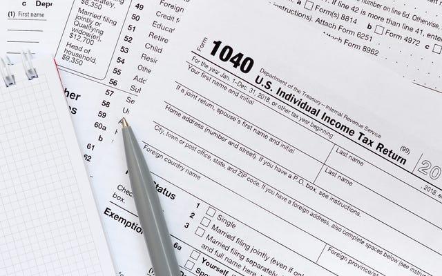 2018年の確定申告を修正して、復活した税額控除と控除を請求します