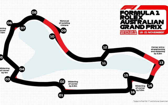新しい画像は、F1の次のオーストラリアGPが真剣に速くなる理由を示しています