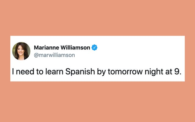 誰も候補者にスペイン語を話すように頼みませんでした