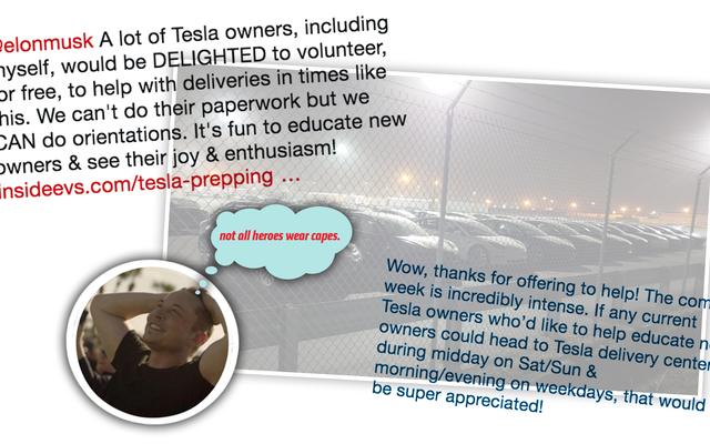 日常のヒロイズム:ファンは億万長者の自動車会社の所有者が自分の車を配達するのを手伝うボランティアをしています