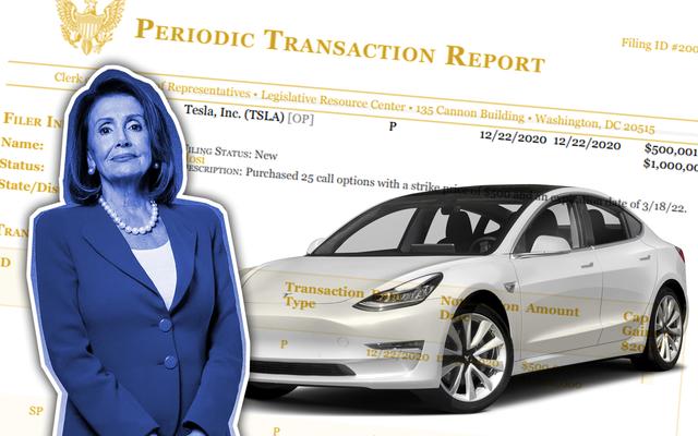 Nancy Pelosi Comprar opciones sobre acciones de Tesla no es ilegal, pero tampoco es genial