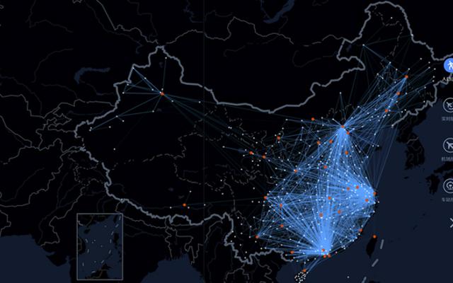 Карта крупнейшей в мире ежегодной миграции людей