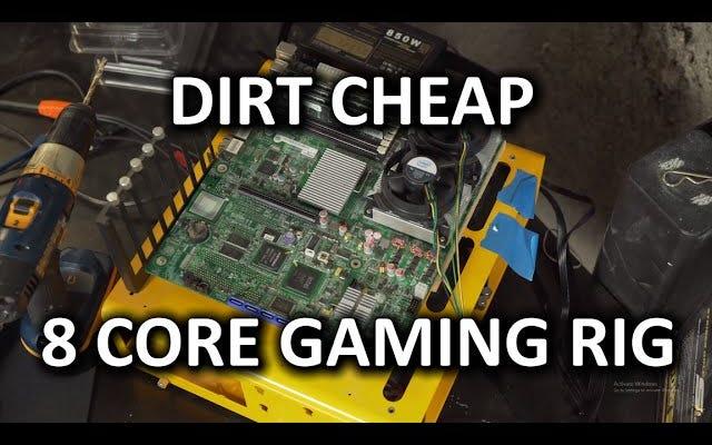 Cree una PC para juegos súper barata con piezas de servidor antiguas