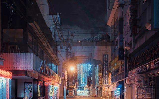 Tokio sieht nachts eindringlich aus