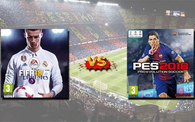 FIFA18とPES2018:決定的な比較