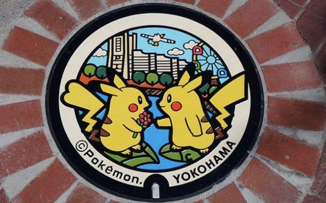 日本全国に設置されたポケモンマンホール