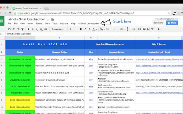 Googleスクリプトを使用して独自のUnroll.meを作成する