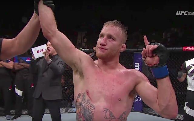 Justin Gaethje es el nuevo príncipe heredero de la violencia de UFC