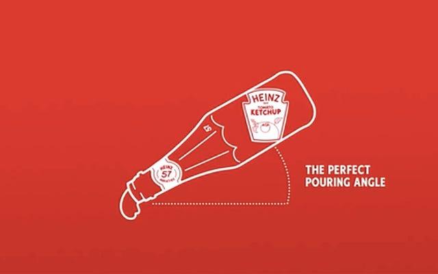 Heinz Canada menciptakan botol yang membantu Anda menuangkan saus tomat