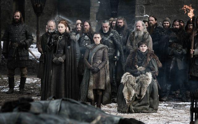 Winterfell berduka di episode sebelumnya dari That's So Sansa