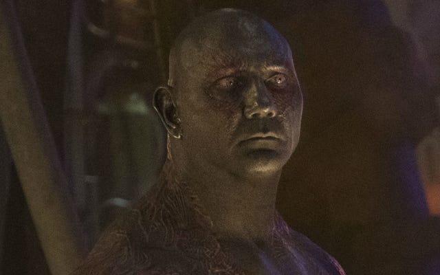 Dave Bautista no puede hacer Guardianes de la Galaxia Vol. 3 sin el guión de James Gunn