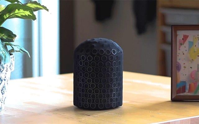 このスマートスピーカーのプロトタイプは腹話術師のように声を出すことができます