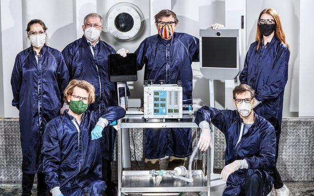 NASA 로켓 과학자들이 단 37 일 만에 고속 생산 인공 호흡기를 설계했습니다.