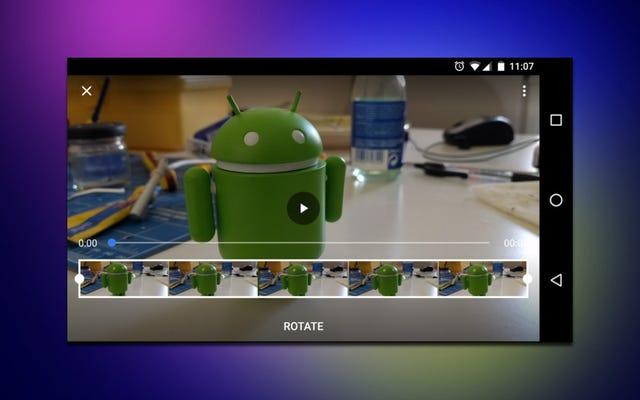Googleフォトは、何らかの理由で削除された回転ビデオ機能を復活させます