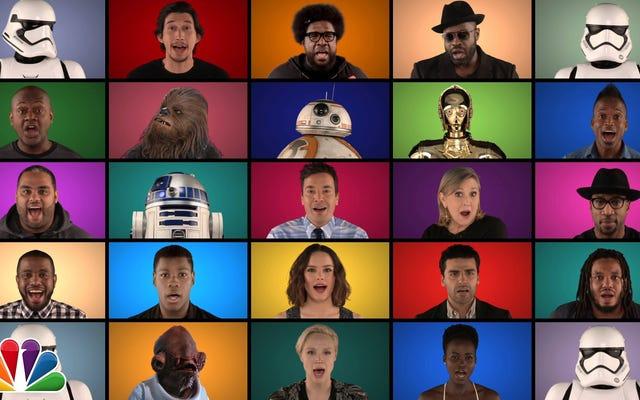 Jimmy Fallon, Massive A Cappella Star Wars Medley'i Söyleyecek Kadroyu Güç Uyandırıyor