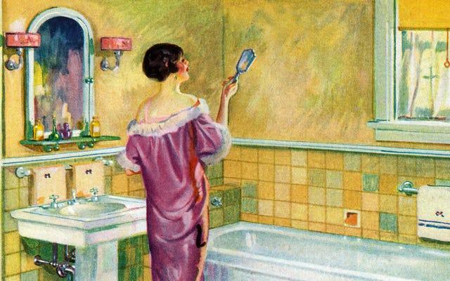 A través del espejo del baño