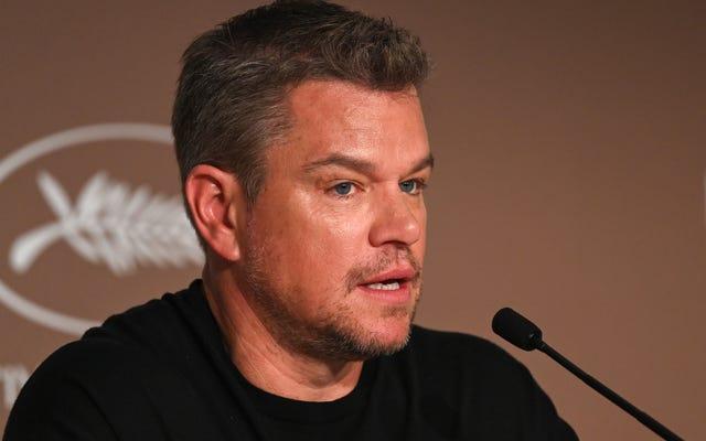 """Ci è voluto un """"trattato"""" per convincere Matt Damon a smettere di dire la F-Word"""