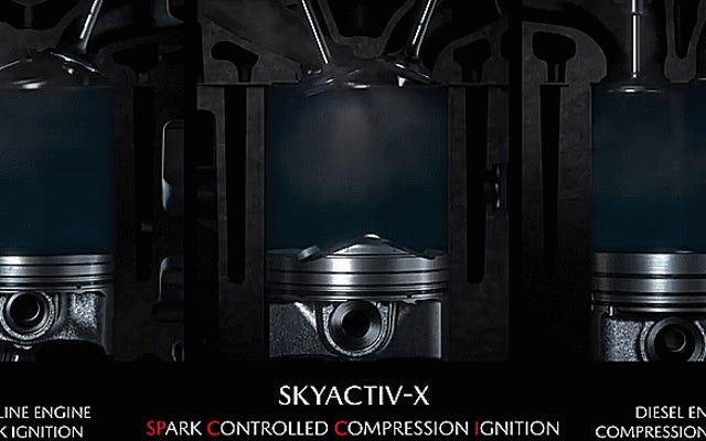 """Lasciati stupire dal funzionamento interno del motore Skyactiv-X """"Santo Graal"""" di Mazda"""