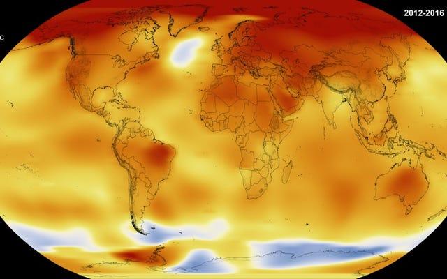 今は公式です:2016年は記録上最も暑い年でした