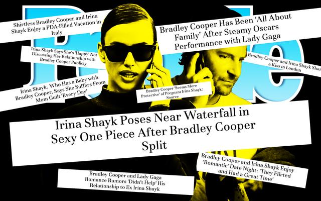 ブラッドリー・クーパーとイリーナ・シェイクの関係、ピープル誌の見出しで語られたように