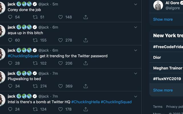 ट्विटर के संस्थापक और निदेशक जैक डोरसी का ट्विटर अकाउंट हैक हो गया