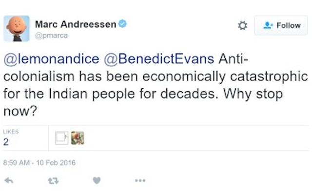 マーク・アンドリーセンはひどく悪いツイートをしました