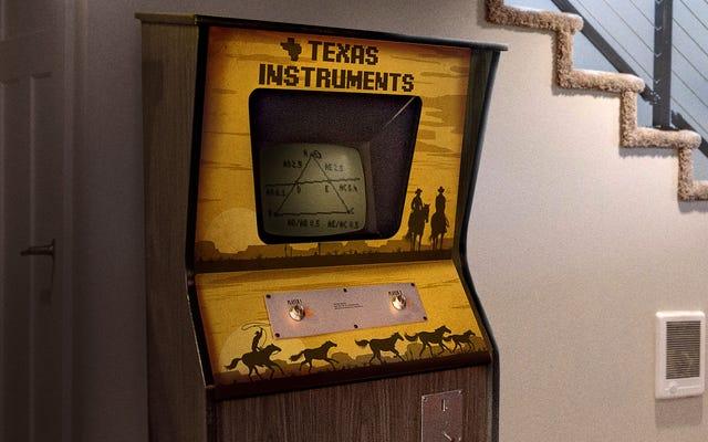 Meuble graphique Texas Instruments Vintage à pièces Man Scores