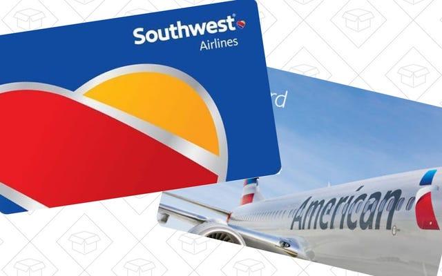 ประหยัดเงินไม่กี่เหรียญในเที่ยวบินถัดไปของคุณด้วยบัตรของขวัญลดราคาเหล่านี้